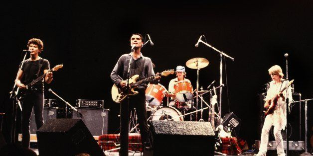HOLLYWOOD, CA - CIRCA 1980s:  (From L to R) Jerry Harrison, David Byrne, Chris Frantz, and Tina Weymouth of the Talking Heads