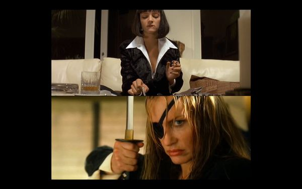 "The black suite with the open, white-collared shirt Daryl Hannah's Elle Driver wears in ""Kill Bill: Vol. 2"" is the same style"