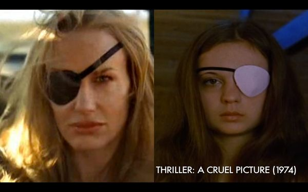 "The character of Elle Driver was inspired by Frigga/Madeleine from the the 1973 Swedish exploitation film ""Thriller – A Cruel"