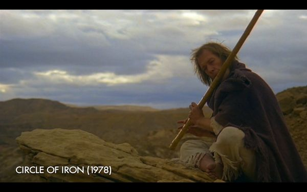 "The shot of David Carradine's Bill playing the flute in ""Vol. 2"" is almost an exact replica of Carradine doing the same thing"