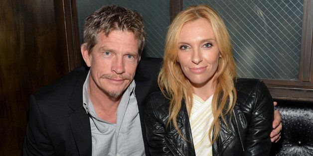 NEW YORK, NY - APRIL 21:  Actors Thomas Haden Church and Toni Collette attend the 'Lucky Them' Premiere after party during th
