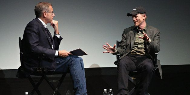 NEW YORK, NY - APRIL 26:  News anchor Brian Williams and director Ron Howard attend Tribeca Talks: Director's Series: Ron How
