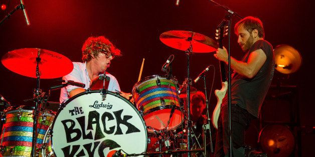 QUEBEC CITY, QC - JULY 06:  Patrick Carney (L) and Dan Auerbach of The Black Keys perform during the Quebec Festival D'ete on
