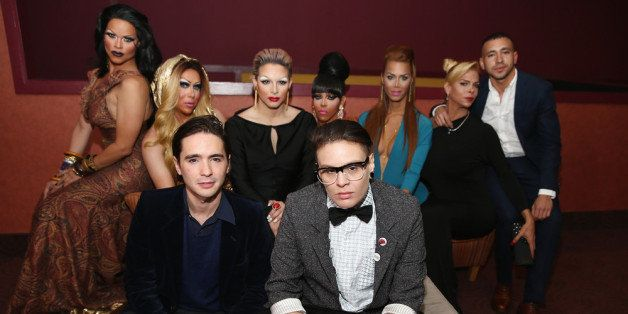 NEW YORK, NY - APRIL 19:  (L-R) Rochelle Mon Chéri, Zahara Montiere, Dan Sickles, April Carrion, Paxx Moll, Queen Bee Ho, Iva