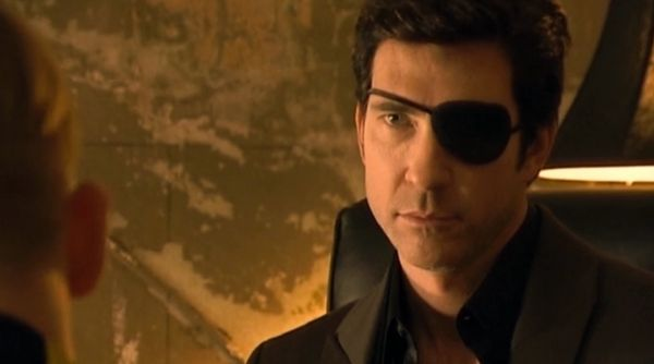 Dylan McDermott portrayed the eye patch-wearing real-life NYC night club owner Peter Gatien. He owned The Limelight and Palla