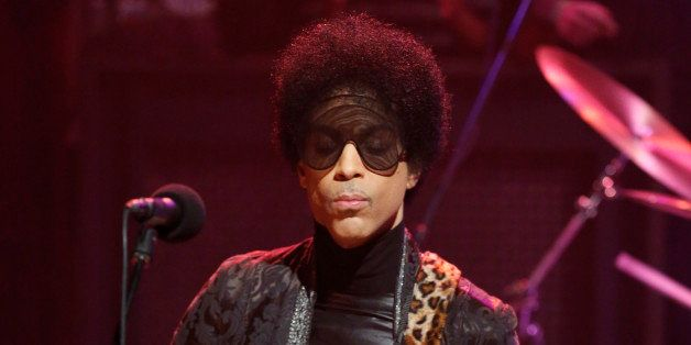LATE NIGHT WITH JIMMY FALLON -- Episode 794 -- Pictured: Musical guest Prince on March 1, 2013 -- (Photo by: Lloyd Bishop/NBC
