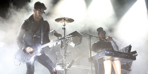 COLUMBIA, MD - MAY 10:  Dave 1 and P-Thugg of Chromeo perform during the 2014 Sweetlife Music & Food Festival at Merriweather