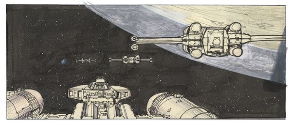 """A later iteration of the rebel attack of the Death Star begins."" -- Joe Johnston"