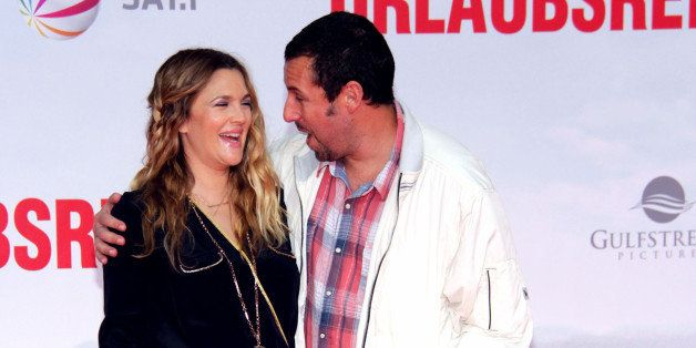 BERLIN, GERMANY - MAY 19:  Actress Drew Barrymore and actor Adam Sandler attend the premiere of the film 'Blended' (German ti