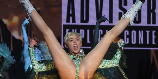 DUBLIN, IRELAND - MAY 20:  Miley Cyrus performs at the 02 on May 20, 2014 in Dublin, Ireland.  (Photo by Phillip Massey/WireI