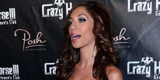 LAS VEGAS, NV - AUGUST 20:  Television personality Farrah Abraham arrives at the Crazy Horse III Gentlemen's Club to host the
