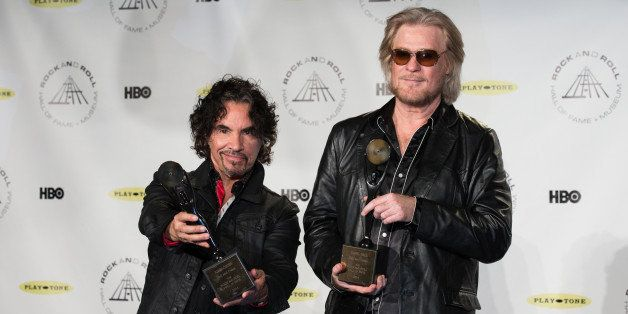 NEW YORK, NY - APRIL 10:  (L-R) John Oates and Daryl Hall attend the 29th Annual Rock And Roll Hall Of Fame Induction Ceremon