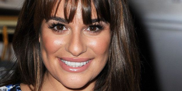 LOS ANGELES, CA - MAY 22:  Lea Michele Signs Copies Of Her New Book 'Brunette Ambition' at Barnes & Noble bookstore at The Gr