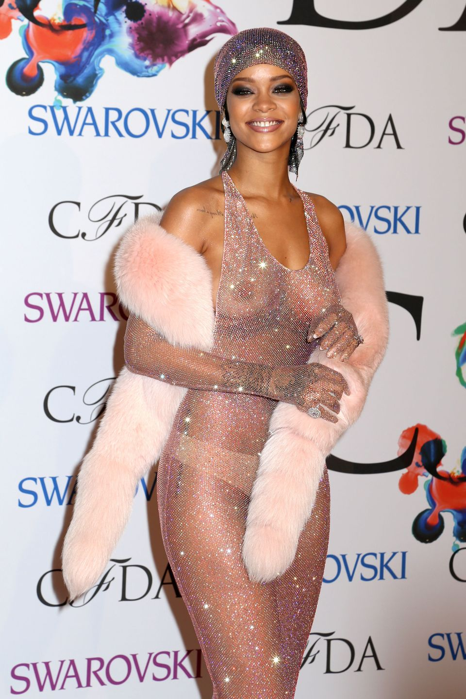 Rihanna attends the 2014 CFDA Awards at Lincoln Center in New York City.