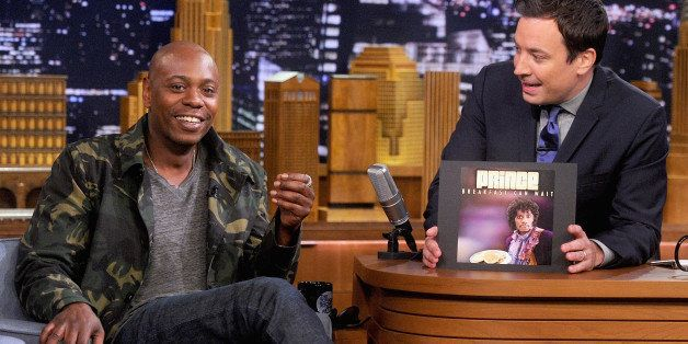 NEW YORK, NY - JUNE 11:  Dave Chappelle during an interview with host Jimmy Fallon on 'The Tonight Show Starring Jimmy Fallon