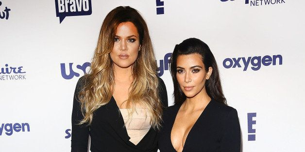 NEW YORK, NY - MAY 15:  (L-R) Khloe Kardashian and Kim Kardashian attend the 2014 NBCUniversal Cable Entertainment Upfronts a