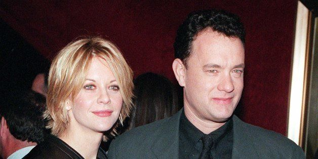 NEW YORK, UNITED STATES:  Meg Ryan and Tom Hanks pose for photographers at the premiere of 'You've Got Mail,' at the Ziegfeld