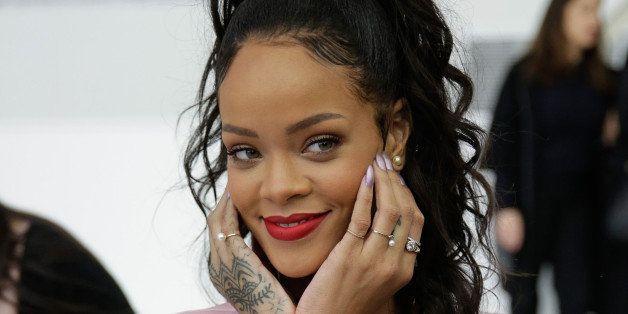 BROOKLYN, NY - MAY 07:  Rihanna attends the Christian Dior Cruise 2015 show at Brooklyn Navy Yard on May 7, 2014 in the Brook