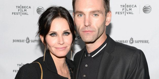 NEW YORK, NY - APRIL 24:  Director Courteney Cox (L) and Musician Johnny McDaid attend the official after party for Courteney