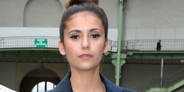 PARIS, FRANCE - JULY 08:  (L-R) Eli Mizrahi and Nina Dobrev attend the Chanel show as part of Paris Fashion Week - Haute Cout