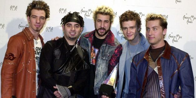 LOS ANGELES, UNITED STATES:  (L to R)  J.C. Chasez, Chris Kirkpatrick, Joey Fatone, Justin Timberlake, Lance Bass of the grou