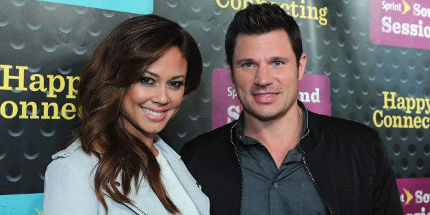 NEW YORK, NY - APRIL 29:  Vanessa Minnillo Lachey and Nick Lachey attend Sprint Sound Sessions at Webster Hall on April 29, 2