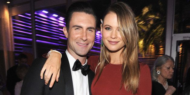 WEST HOLLYWOOD, CA - MARCH 02:  (EXCLUSIVE ACCESS, SPECIAL RATES APPLY)  Behati Prinsloo and Adam Levine attend the 2014 Vani