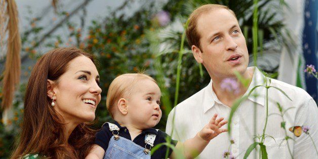 A photograph taken in London on Wednesday July 2, 2014, to mark Britain's Prince George's first birthday, shows Prince Willia