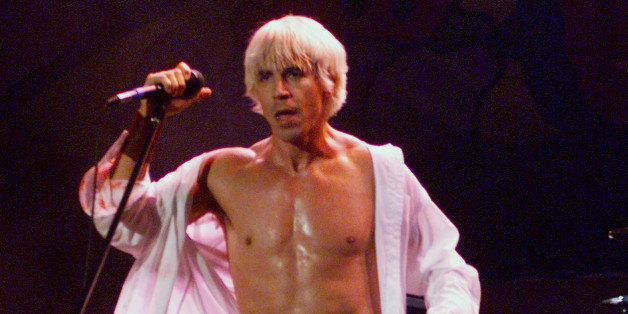 Red Hot Chili Peppers singer Anthony Kiedis performs on the east stage Saturday at Woodstock '99 in Rome, New York 7/25/99 at
