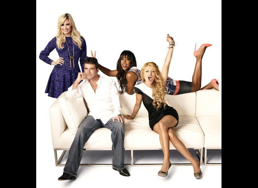 Demi Lovato, Simon Cowell, Kelly Rowland and Paulina Rubio.