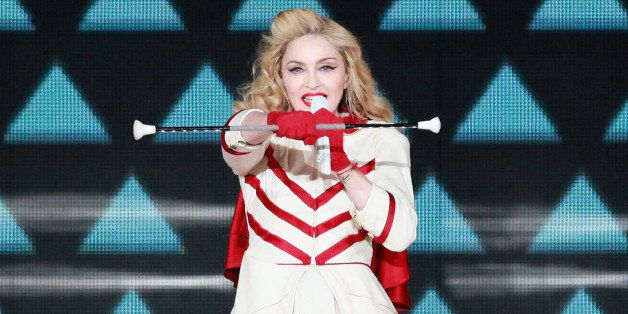 NEW YORK, NY - NOVEMBER 12:  Madonna performs during the 'MDNA' tour at Madison Square Garden on November 12, 2012 in New Yor