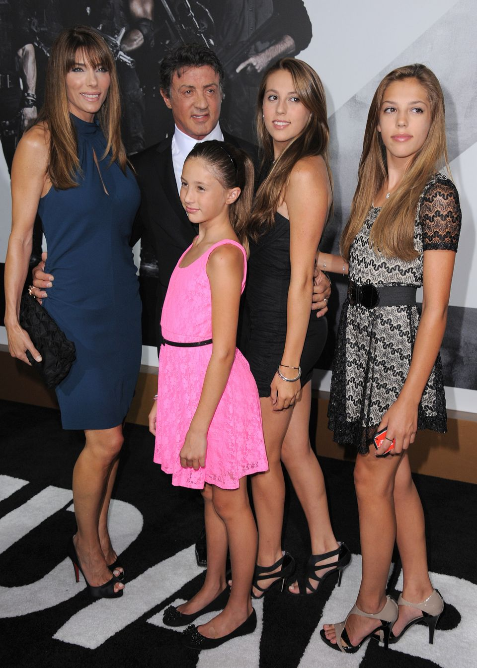 "Sylvester Stallone and family attend the premiere for ""The Expendables 2"" at Grauman's Chinese Theatre on Wednesday, Aug. 15,"