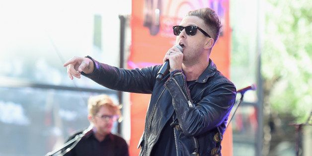NEW YORK, NY - JULY 25:  Ryan Tedder of OneRepublic performs on NBC's 'Today' at the NBC's TODAY Show on July 25, 2014 in New