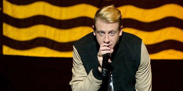 LOS ANGELES, CA - JUNE 06:  Macklemore & Ryan Lewis perform for the 'American Express Membership Experiences Concert Series'
