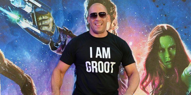 US actor Vin Diesel attends the European premiere of the film, Guardians of the Galaxy in central London on July 24, 2014. AF