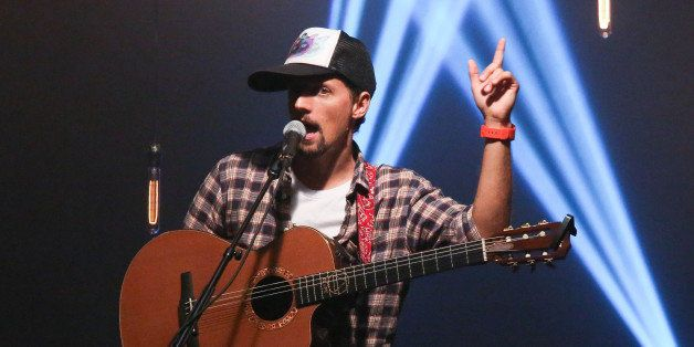 NEW YORK, NY - JULY 18:  Jason Mraz performs at iHeartRadio Theater on July 18, 2014 in New York City.  (Photo by Rob Kim/Get
