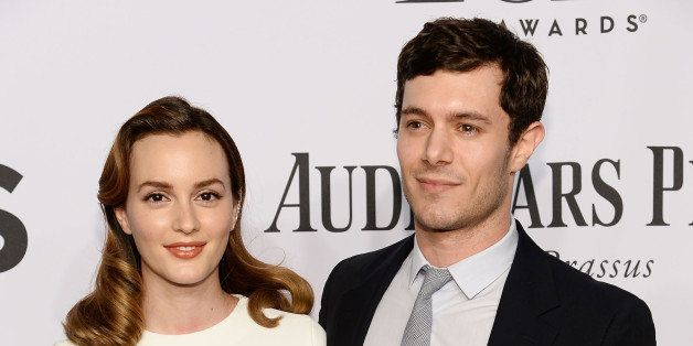 NEW YORK, NY - JUNE 08:  Leighton Meester and Adam Brody attend the 68th Annual Tony Awards at Radio City Music Hall on June