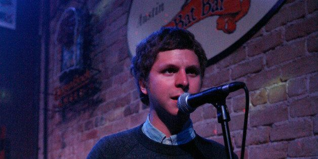 AUSTIN, TX - MARCH 15:  Michael Cera performs with music group Mister Heavenly onstage at the 2011 SXSW Music, Film + Interac