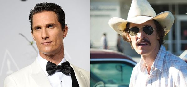 In the 2013 movie, McConaughey played AIDS patient Ron Woodroof, and lost 40 pounds for the role.