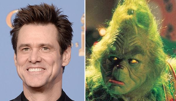 Carrey is barely recognizable as Dr. Seuss character Grinch in the 2000 holiday movie.