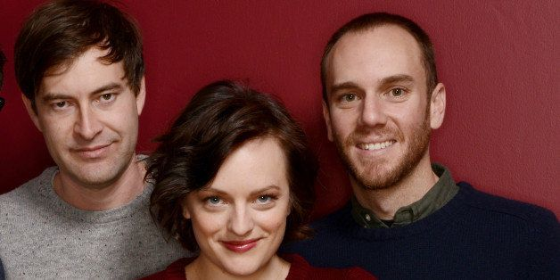 PARK CITY, UT - JANUARY 21:  (L-R) Filmmaker Charlie McDowell, actors Mark Duplass and Elisabeth Moss, and filmmaker Justin L