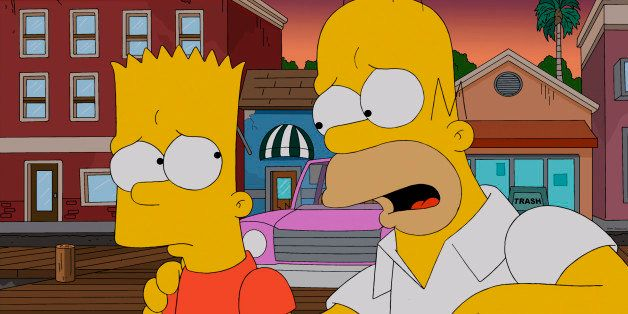 THE SIMPSONS: Homer promises Bart the next best thing to a submarine ride: revenge on Principal Skinner in the 'Yellow Subter