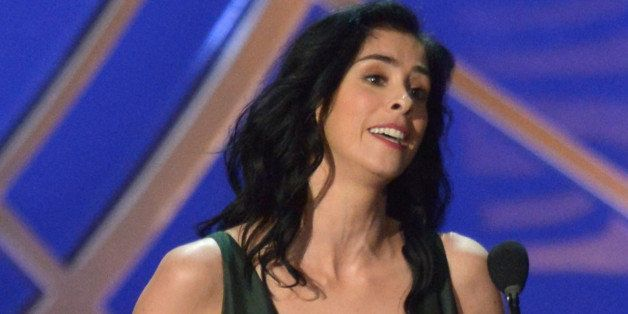LOS ANGELES, CA - AUGUST 25:  Actress Sarah Silverman speaks onstage at the 66th Annual Primetime Emmy Awards held at Nokia T
