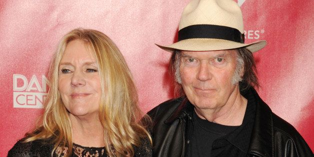 LOS ANGELES, CA - FEBRUARY 10: Neil Young and Pegi Young arrive at The 2012 MusiCares Person of The Year Gala Honoring Paul M