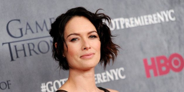 """Actress Lena Headey attends HBO's """"Game of Thrones"""" fourth season premiere at Avery Fisher Hall on Tuesday, March 18, 2014 in"""