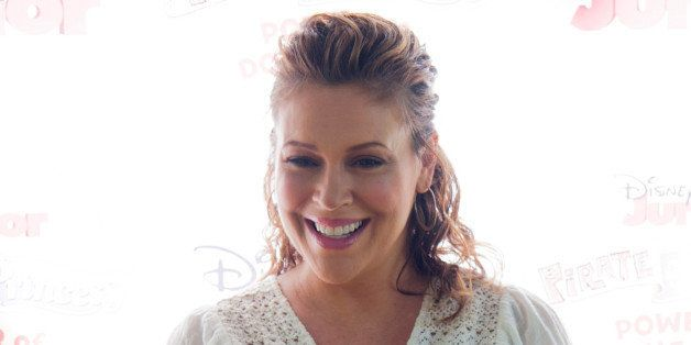 PASADENA, CA - AUGUST 16:  Actress Alyssa Milano arrives at Disney Junior's 'Pirate And Princess: Power Of Doing Good' Tour A