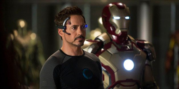 "FILE - This undated publicity image provided by Marvel shows Robert Downey Jr., as Tony Stark/Iron Man, in a scene from ""Marv"