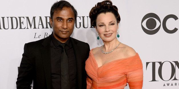NEW YORK, NY - JUNE 08:  Scientist Shiva Ayyadurai (L) and actress Fran Drescher attends the 68th Annual Tony Awards at Radio
