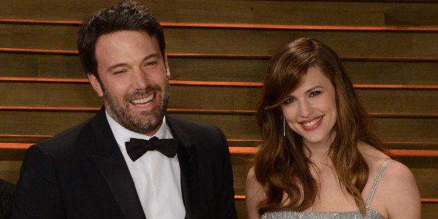 WEST HOLLYWOOD, CA - MARCH 02:  Actors Ben Affleck and wife Jennifer Garner arrive at the 2014 Vanity Fair Oscar Party Hosted
