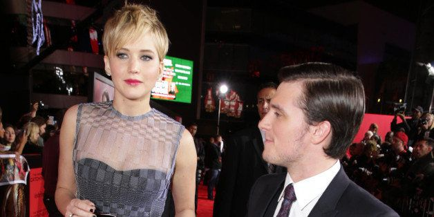 Jennifer Lawrence and Josh Hutcherson seen at Lionsgate's 'The Hunger Games: Catching Fire' Los Angeles Premiere, on Monday, Nov, 18, 2013 in Los Angeles. (Photo by Eric Charbonneau/Invision for Lionsgate/AP Images)